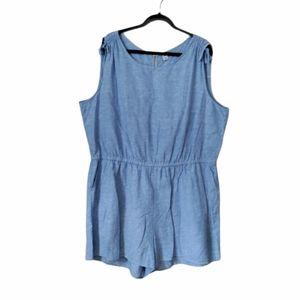 Women's nwot Plus Size Linen Blend Romper